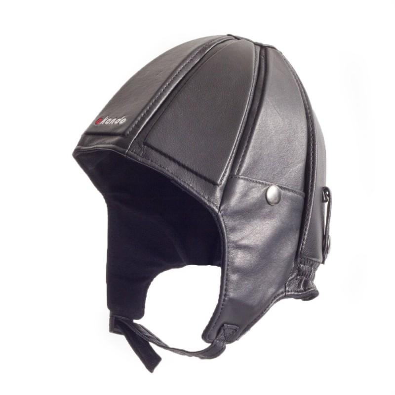 Leather Frap Hat
